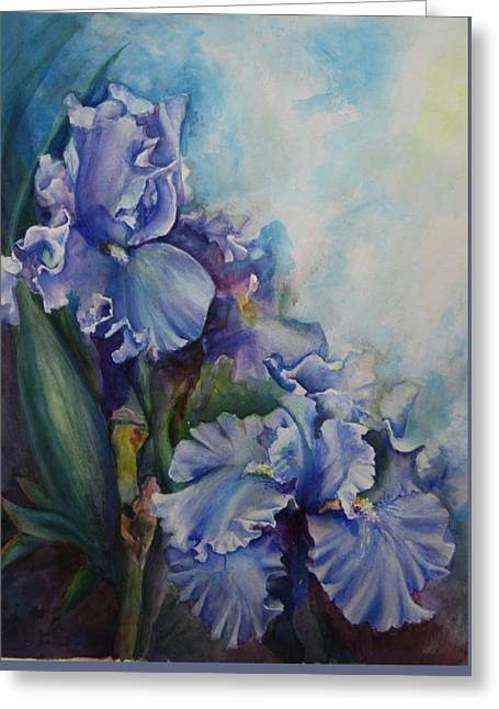 An Iris For My Love Greeting Card