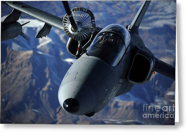An Italian Amx Is Refueled By A Kc-10a Greeting Card by Stocktrek Images