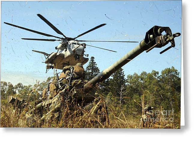 An Mh-53e Sea Stallion Helicopter Greeting Card by Stocktrek Images