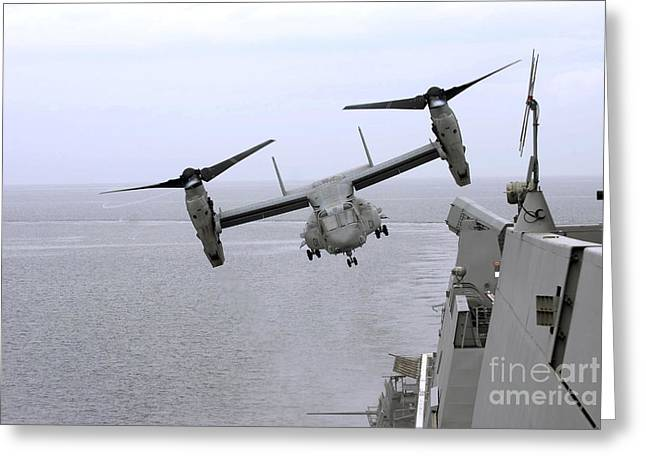 An Mv-22b Osprey Takes Greeting Card by Stocktrek Images