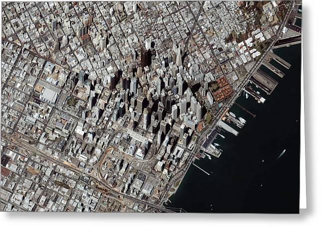 An Oblique-angle View Of San Franciscos Greeting Card by Stocktrek Images