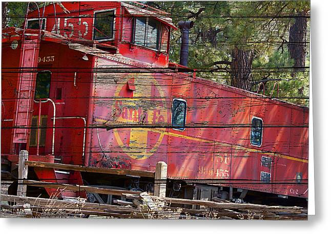 An Old Caboose  Greeting Card