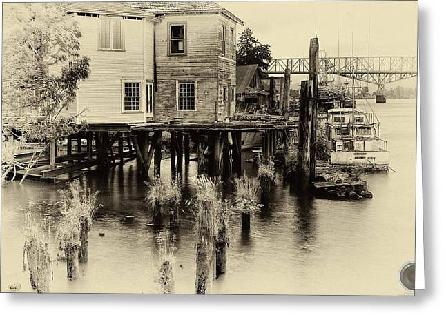 An Old Dock Greeting Card