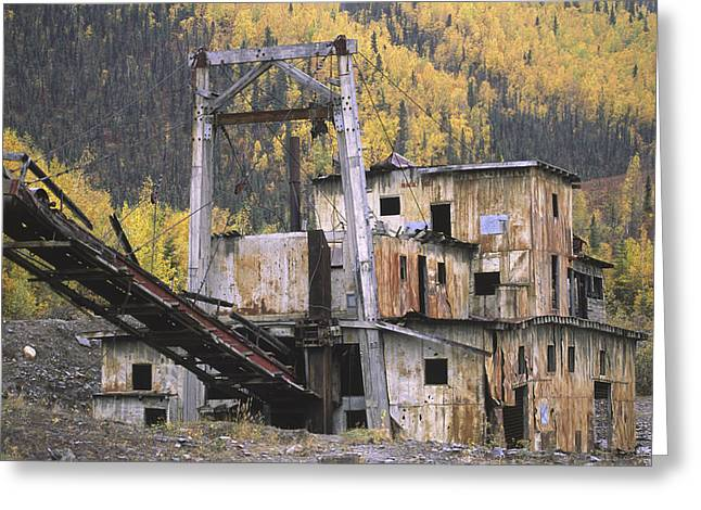 An Old Gold Dredge Greeting Card by Michael Melford