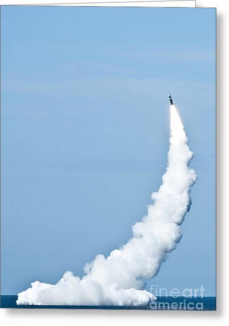 An Unarmed Trident II D5 Missile Greeting Card by Stocktrek Images