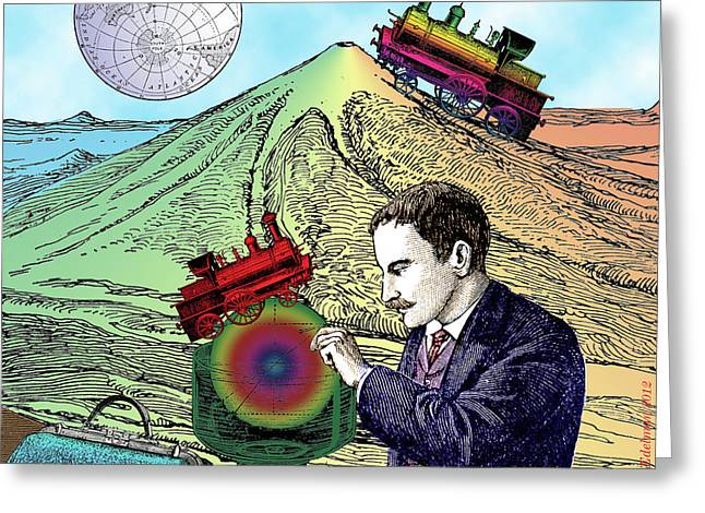 Analogical Travels Greeting Card by Eric Edelman