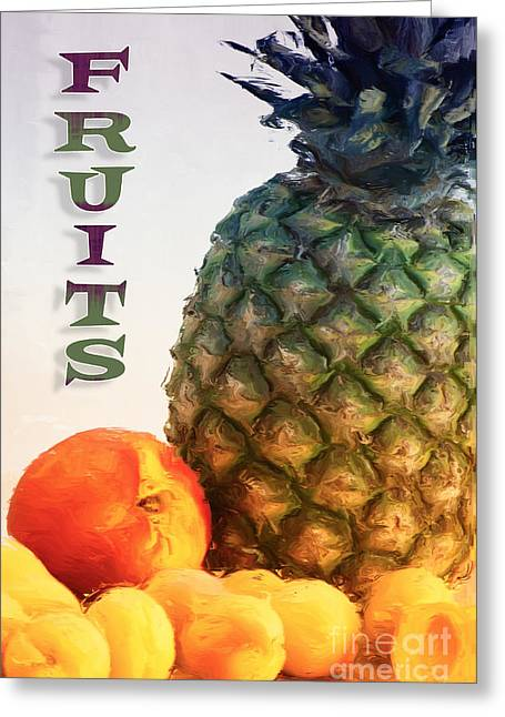 Fruits Greeting Card by Angela Doelling AD DESIGN Photo and PhotoArt