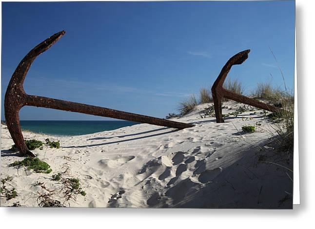 Anchor Beach 8 Greeting Card by Jez C Self