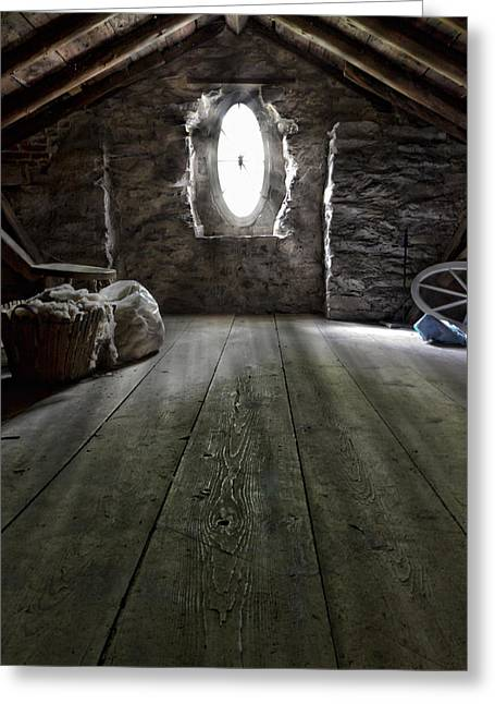 Ancient Attic Greeting Card by Peter Chilelli