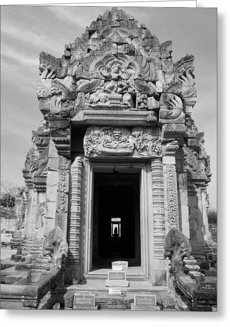 Ancient Castle At Thailand. Greeting Card by Phalakon Jaisangat