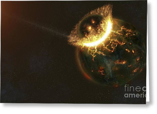 Ancient Earth Impact Greeting Card by Fahad Sulehria