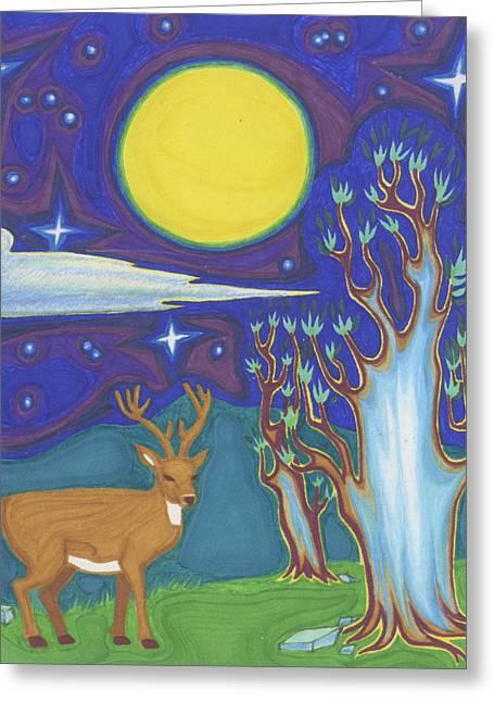 Ancient Night Greeting Card by James Davidson