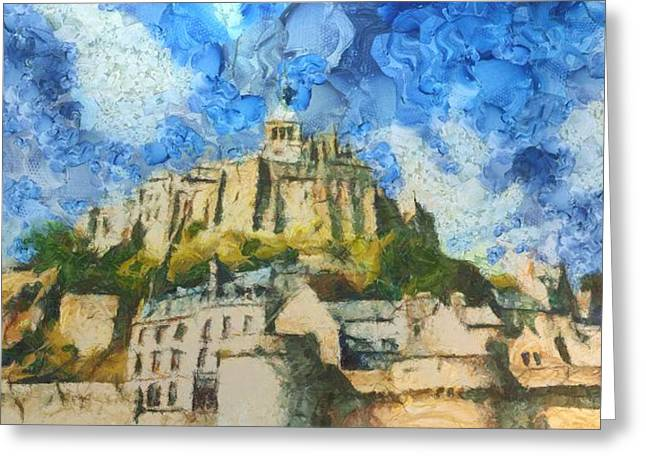 Ancora Mont St. Michel Greeting Card by Aaron Stokes