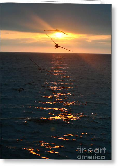 ...and At The End Of The Day... Greeting Card by Valerie Rosen