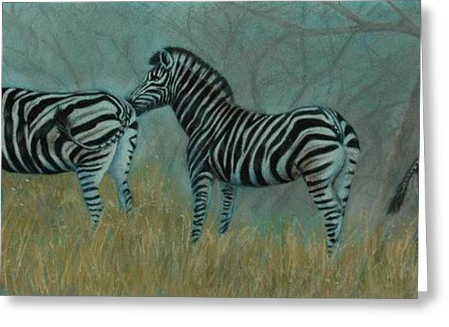 And Baby Makes Three Greeting Card by Linda Harrison-parsons