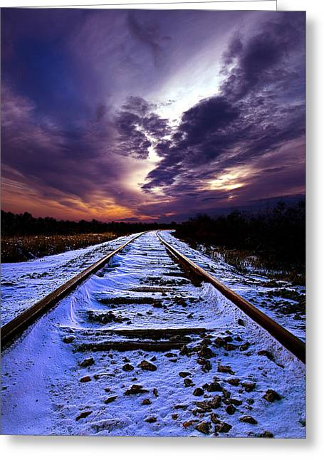 And Beyond Greeting Card by Phil Koch