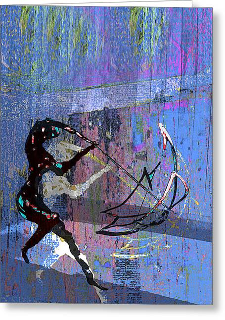 And Singing In The Rain Greeting Card by Tony Marquez