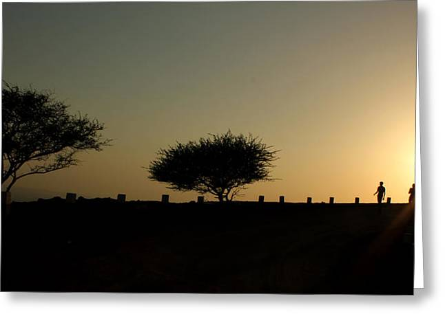 And The Day Ends Quietly.. Greeting Card by Saurabh Shenai