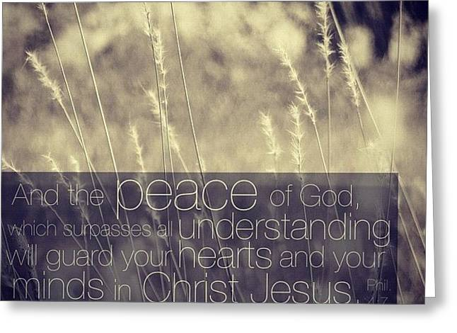and The Peace Of God, Which Surpasses Greeting Card by Traci Beeson