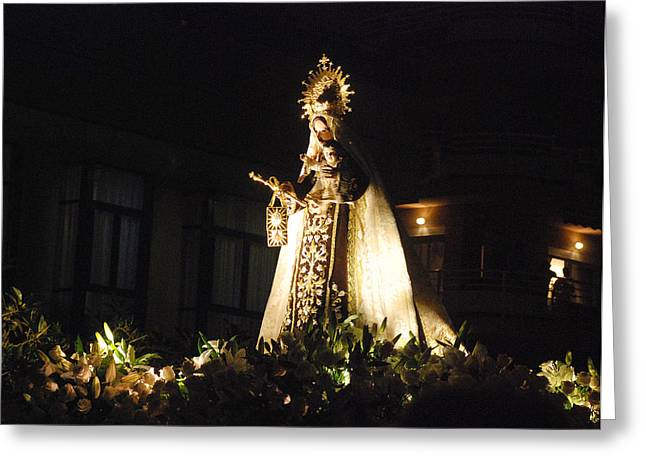 Andalusian Procession Greeting Card by Perry Van Munster