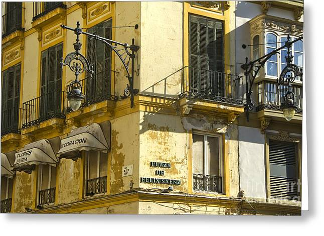 Andalusian Spanish Facade Greeting Card by Perry Van Munster
