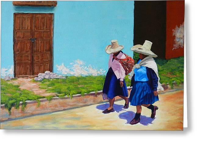 Andean Ladies, Peru Impression Greeting Card