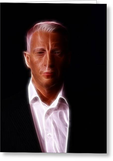 Anderson Cooper - Cnn - Anchor - News Greeting Card by Lee Dos Santos