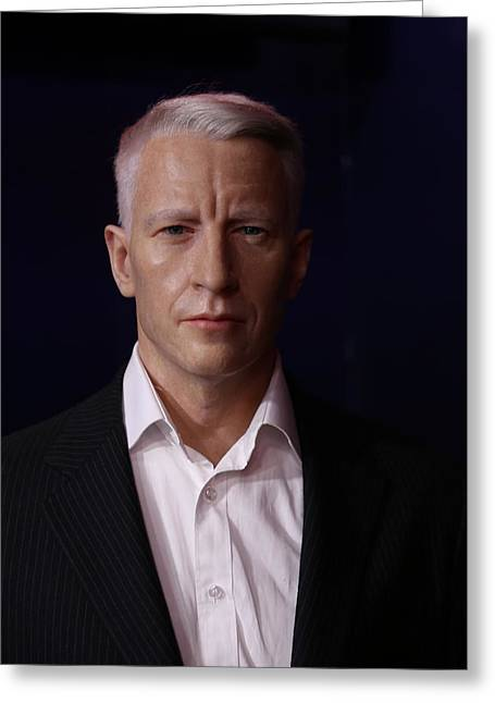 Anderson Hays Cooper - Cnn - Anchor - News Greeting Card by Lee Dos Santos