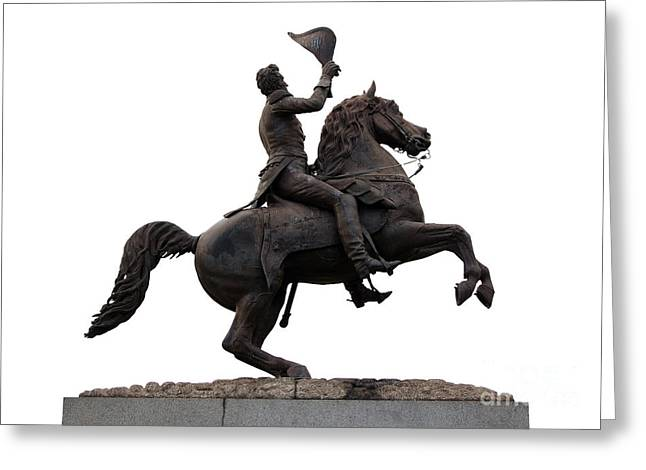 Andrew Jackson Statue Jackson Square French Quarter New Orleans Greeting Card by Shawn O'Brien