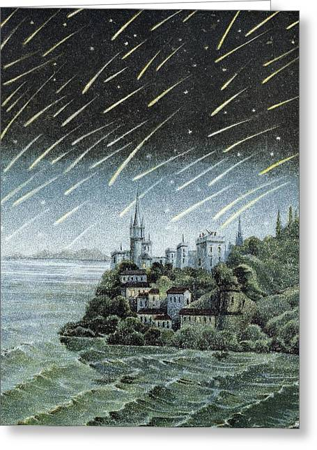Andromedid Meteor Shower Greeting Card by Science, Industry & Business Librarynew York Public Library