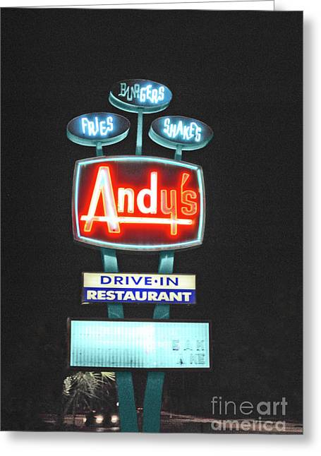 Andy's Drive-in Greeting Card by Jost Houk