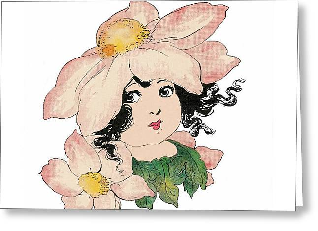 Anemone Or Windflower Greeting Card