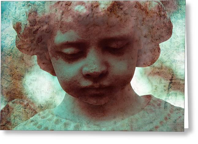 Angel Boy Greeting Card by Sonja Quintero