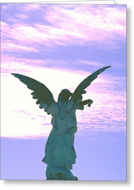 Angel In Sunset Greeting Card