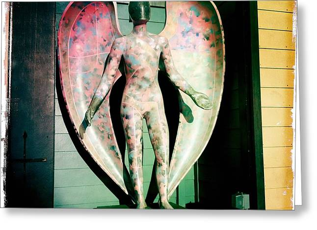 Greeting Card featuring the photograph Angel In The City Of Angels by Nina Prommer