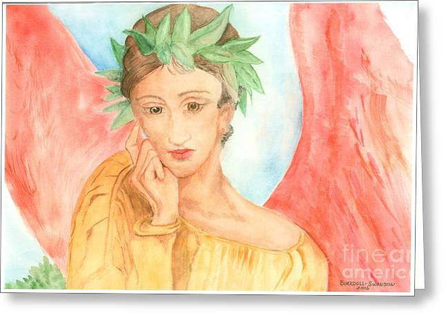 Angel In Thought Greeting Card