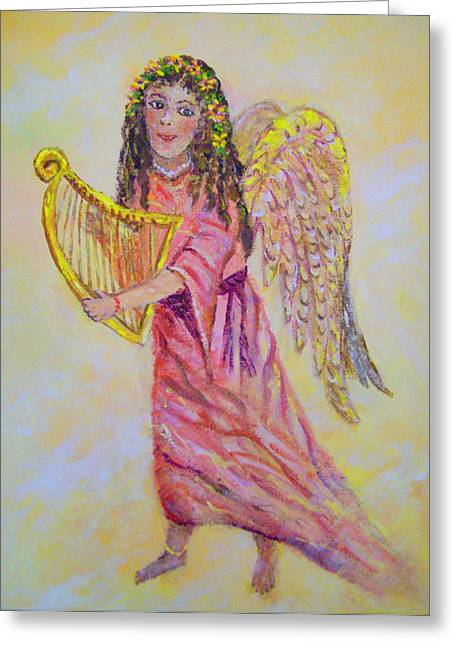 Greeting Card featuring the painting Angel by Lou Ann Bagnall