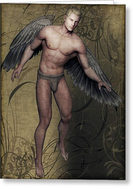 Greeting Card featuring the painting Angel by Maynard Ellis