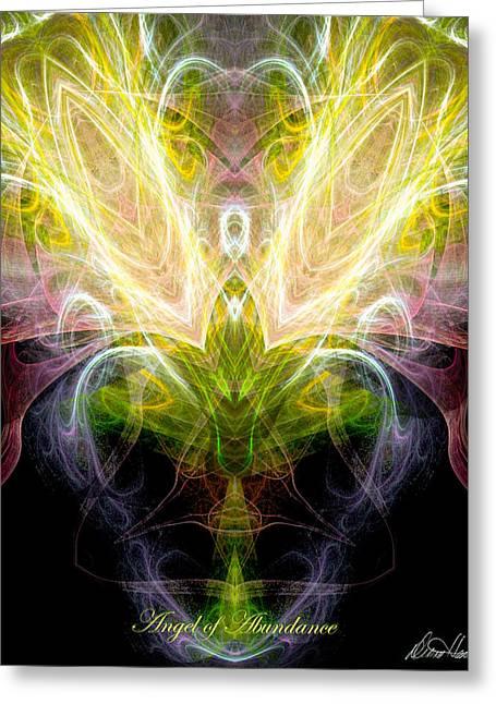 Angel Of Abundance Greeting Card by Diana Haronis