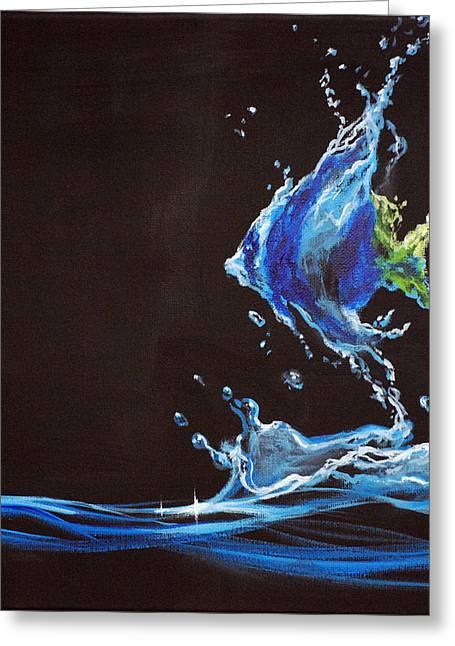 Angel Splash Greeting Card by Marco Antonio Aguilar