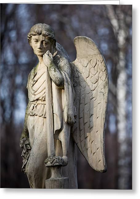 Angel Statue Greeting Card by Artur Bogacki