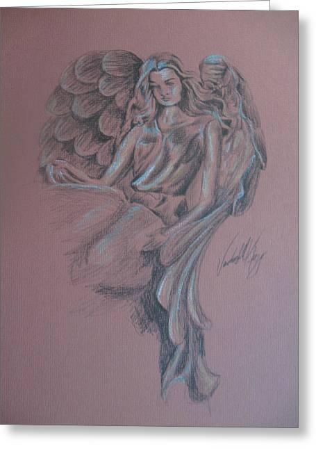 Angelica Greeting Card by Vanderbill King