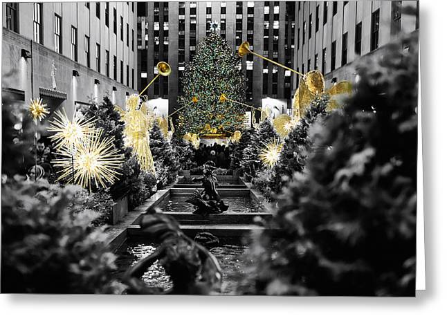 Angels Of New York City Greeting Card by George Oze