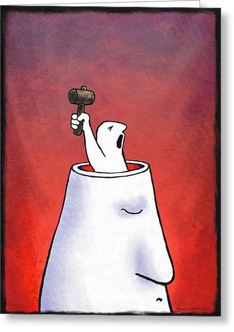 Anger, Conceptual Artwork Greeting Card