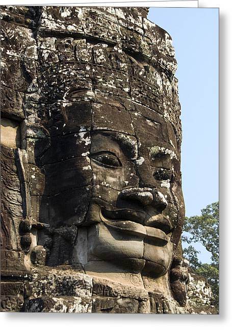 Angkor Thom Fae Greeting Card by Gloria & Richard Maschmeyer