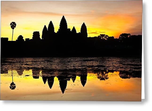 Angkor Wat At Sunrise Greeting Card