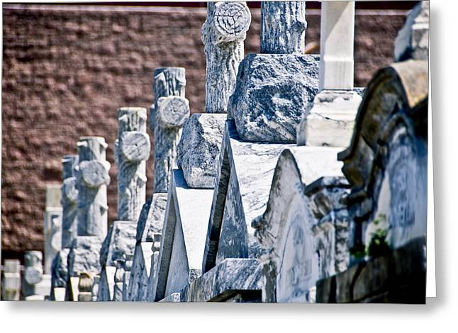 Angled Heahstones Greeting Card by Ray Laskowitz