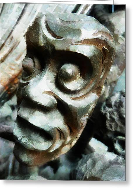Anguish  Greeting Card by Steve Taylor