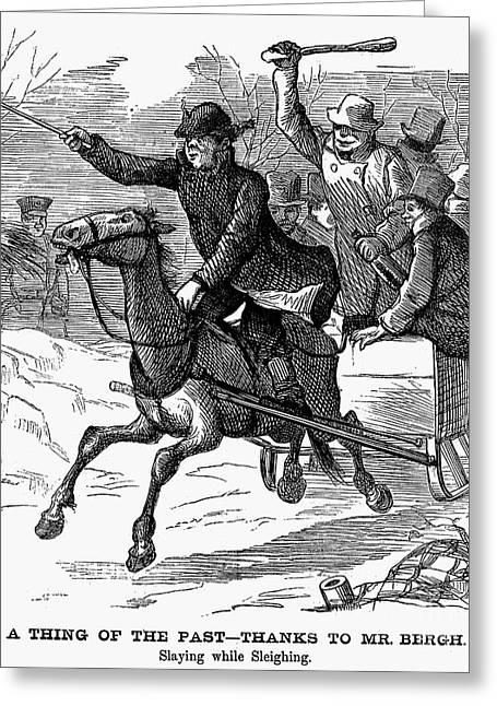 Animal Cruelty, 1877 Greeting Card