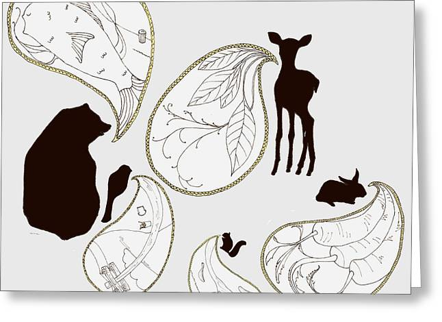 Animal Sounds Greeting Card by Marcia Wood